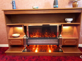 Electric Fire with wooden surround