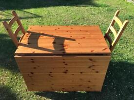 Ikea leksvik drop leaf table & 4 chairs