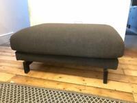 SOLD | IKEA Nockeby Footstool Dark Grey