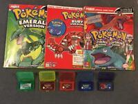 Nintendo Gameboy Pokemon Ruby FireRed Emerald 5 Games Bundle PAL GBA GENUINE