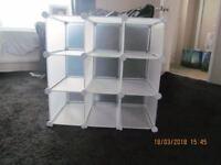 Interlocking storage shelves