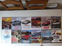 Vintage editions of CAR Magazine. 11 issues from 1988.