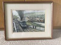 Original Watercolour by Ben Harris local Welsh Artist Framed/Glazed H15.25in/38.5cm W19.25in/48.5cm