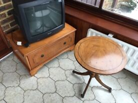 Vintage Yew Coffee Table and Chest of Drawers in Faversham