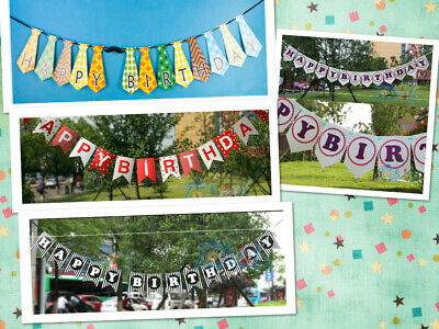 Black And Red Happy Birthday Banner (Cute Happy Birthday Banner Tie Red and Black Party Decoration Supplies)