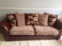 Sofas three and two seater