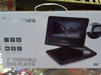 "GOODMANS 7"" PORTABLE DVD PLAYER, BOXED, FULL 6 MONTHS WARRANTY"