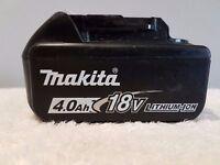 MAKITA 18v LXT LI-ION BL1840 (4AH) battery, perfect working order,(USED)