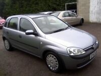 VAUXHALL CORSA 1-2 CLUB 16v 5-DOOR 2003 (53 PLATE) 127k MILES, SERVICE HISTORY, 12 MONTHS MOT.