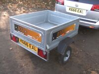 2012 ERDE 102 CLASSIC (4X3) CAR TRAILER GALV TILT BODY/DROPTAIL..