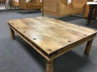 Large Aged Pine Coffee Table