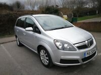 7 SEATER VAUXHALL ZAFIRA MANUAL IN CLEAN CONDITION. LONG MOT. SERVICE HISTORY. 1 PREVIOUS OWNERS