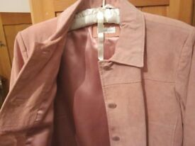 Lovely Real Suede jacket - Pastel Pink size 14 - hardly worn
