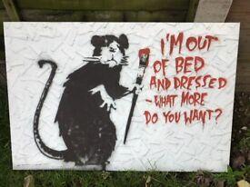 Banksy Rat Canvas