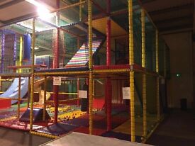 Indoor Soft Play Frame with Toddler Play Area .