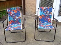 Pair of good sturdy picnic chairs.