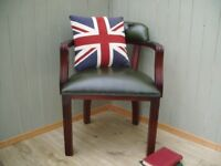 Stunning Leather Chesterfield Captains Chair.
