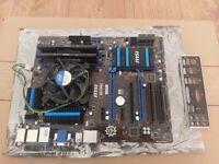 Intel i5 4670K 3.4GHz + MSI Z87-G43 ATX + Patriot Viper 8GB DDR3 1600MHz Bundle