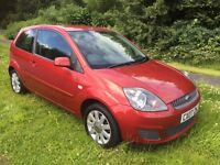 FIESTA 1.4 ZETEC 07 REG FINISHED IN FIRE RED METALLIC, 1 OWNER, FULL SERVICE HISTORY AND MOT MAY