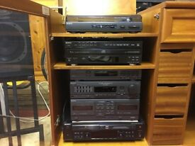 HiFi Sony Separate System in Teak Cabinet for Sale £250