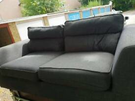 Grey 3 seater fabric sofa