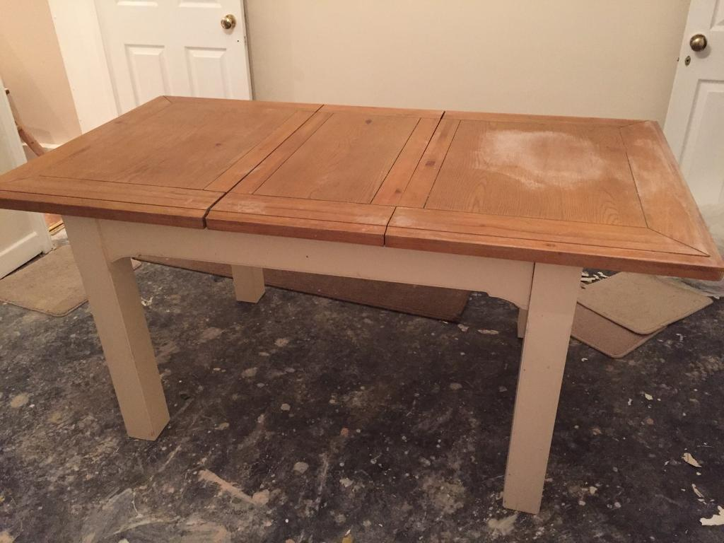 Water Dining Tables ~ Free water damaged cream dining table and chairs in