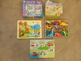 BUNDLE OF JIGSAWS AND WOODEN PUZZLES (suitable for 12-18+ months)