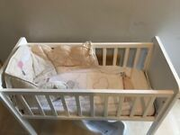 Baby cot with Winnie the Pooh mattress available ..rarely used..in good condition