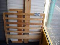 IKEA SINGLE WOODEN BED