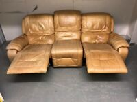 3 seater Elk leather reclining sofa 2300mm