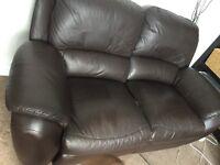 Brown recliner sofa