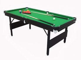 6 x 3 foot snooker table, in excellent condition