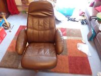 Brown Recliner Leather Chair