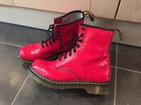 Red Patent Dr Martens Size UK 6