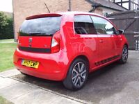 2017 '17' SEAT Mii FR Line 75 3 door in Red with just 200 Miles!!!!