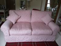 Laura Ashley Sofa Bed and Arm Chair Dusky Pink