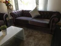 Stunning 3 Seater Chesterfield velvet sofas / can deliver