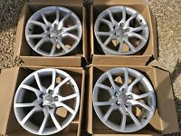 Genuine 18 inch AUDI A5 Alloy Wheels + Wheel Studs, Locking Nuts & Centre Caps (will fit other cars)