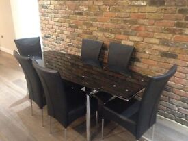 Harvey's Milan Extending Dining Table and 6 Chairs