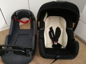 Baby carrier car seat with belted base