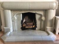 1930's Tudor Arched Fireplace