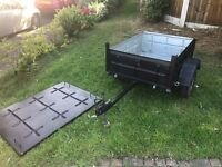 Excellent secure metal trailer - Light, strong and very easy to tow - great condition