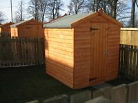 Garden Sheds, Garages, Summerhouses, Timber Fencing Fence Posts Boards Rails, Decking, Sleepers