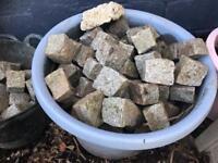 Approx 120 concrete sets blocks edging