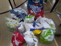 Large bags of mixed boys clothes