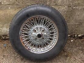 Bolt On Chrome Spoked Wheel (MGB)