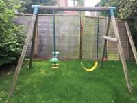 Garden swing and see saw.