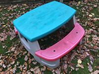 Kids plastic picnic table