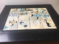 Unusual tile table coffee side table