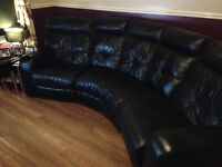 Dfs curved 4 seater sofa